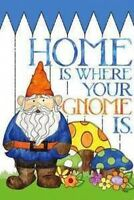 Home is Where your GNOME Yard Flag super cute 29 Garden