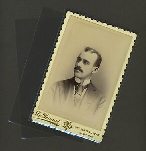 100 Cabinet Card Photo Sleeves Pack/Lot Clear Poly Archival Safe