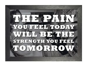 Details about Motivation 107 Weight Lifting Quote Sport Poster Inspiration  Hard Pain Photo