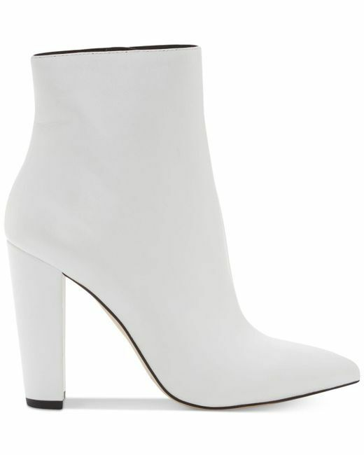 Jessica Simpson Teddi WEISS Ankle Leder Pointed Toe Block Heel Ankle WEISS Bootie 020113