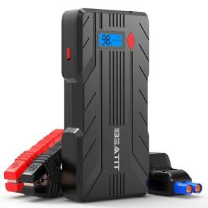 Details About 1200a Peak 16500mah 12v Portable Car Jump Starter Power Up 8 0l Gas 6 0l Diesel