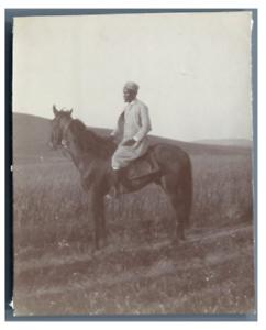 Tunisie-Ben-Sultan-tunisien-a-cheval-vintage-citrate-print-Tirage-citrate