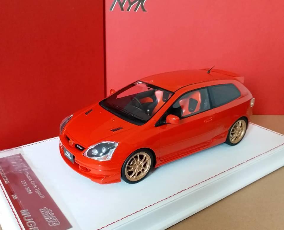 1/18 AMC modello HONDA CIVIC TYPE R EP3 Mugen Milano Rosso 2004-2005 NUOVO!