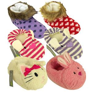 Ninas-Ninos-Animal-Novedad-botin-Zapatilla-Kids-Bootie-Slippers-bootee