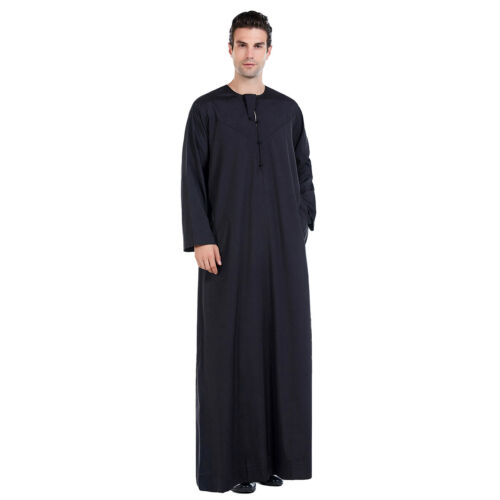 Details about  /Muslim Men/'s Thobe Dishdasha Arab Thawb Thoub Islamic Kaftan Robe Dress Clothing