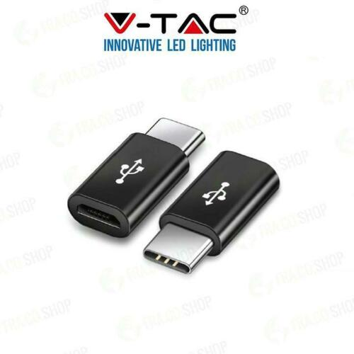 MICRO USB TO TYPE C ADATTORE  NERO 012382