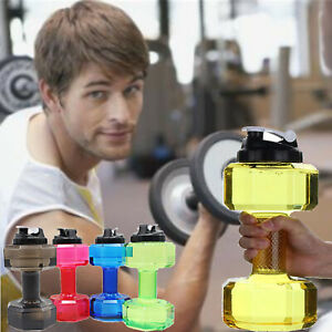 Water-Bottle-2-5L-Dumbbell-Shaped-Sport-Drink-Exercise-Gym-Protein-Shake-Weight