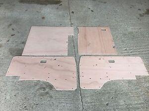 Image is loading VW-T25-Crew-Cab-Door-Cards-4-panel- & VW T25 Crew Cab Door Cards 4 panel set 80 - 91 oil tempered ...