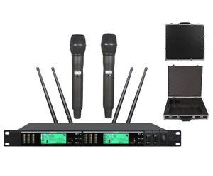 MICROFONO-Wireless-Professionale-per-Shure-Mic-Microfono-Vocale-True-Diversity
