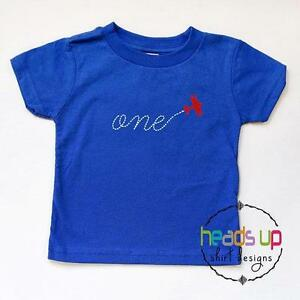 Details About 1 Airplane Shirt Boy Girl First Birthday Bodysuit Tshirt Plane Toddler Baby One