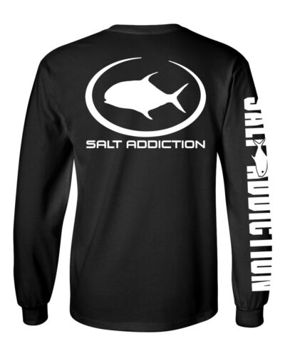 Salt Addiction long sleeve saltwater fishing t shirt  Flats offshore permit