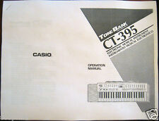 Casio CT-395 Tone Bank Keyboard Owner's User's Operating Manual Booklet