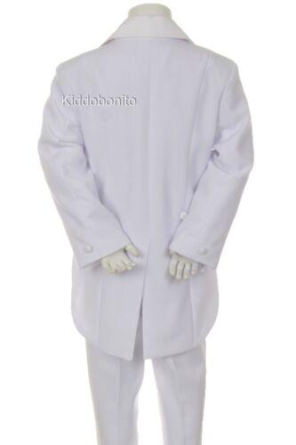 Baby Toddler Kid Teen Boy Wedding Formal Party Tail Tuxedo Suit sz S-20 0M-18yr