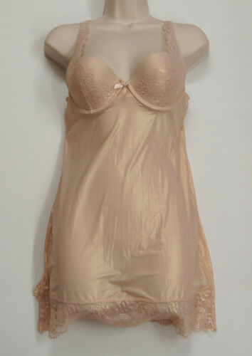 VICTORIA/'S SECRET Lace and Satin Bustier Slips Sleepwear NEW NWT