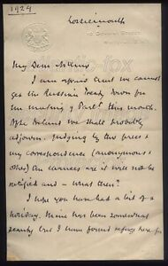 1924-Remarkable-letter-PRIME-MINISTER-Ramsay-Macdonald-Russian-Treaty-Ireland
