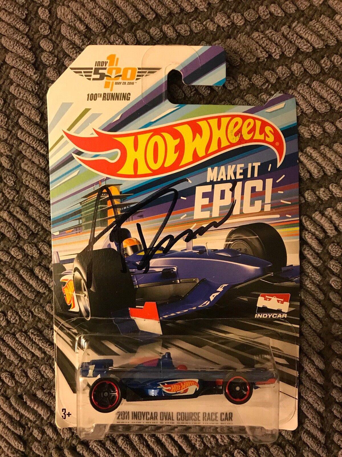 Venta en línea de descuento de fábrica Hot Wheels 2016 Indy 500 100th que se se se ejecuta 1 64 Diecast Firmado Alexander Rossi  Más asequible