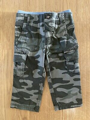 Carter/'s Toddler Boys/' Pull-On Twill Pants Camo NWT Camouflage elastic waist