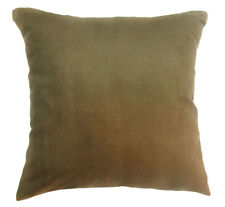 Mg06a Deep Reddish Brown Soft Faux Micro Suede Fabric Cushion Cover//Pillow Case