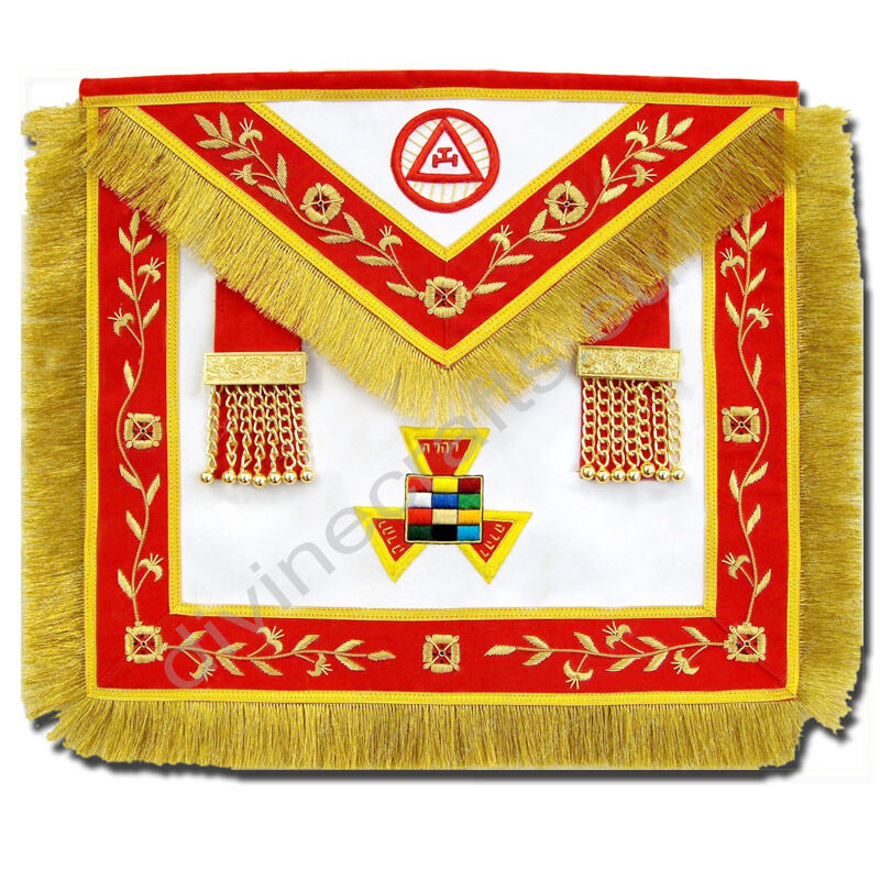 Royal arch Past High Priest masonic Apron hand embroidered apron