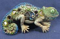 Chameleon Green & Blue Mirrored Mosaic Wall Art Home Decor
