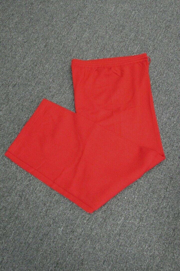 ST JOHN CASHMERE Russian Red Solid Drawstring Stretch Waist Pant NWT Sz P GG4553