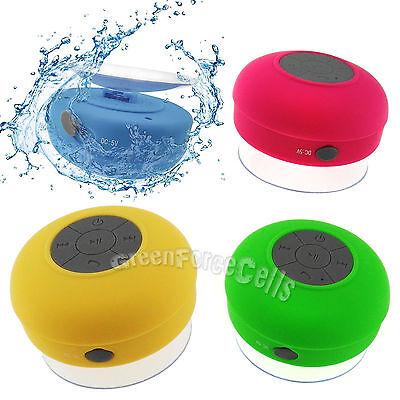 Waterproof Bluetooth Wireless Speaker Handsfree Mic Suction Music Car Shower