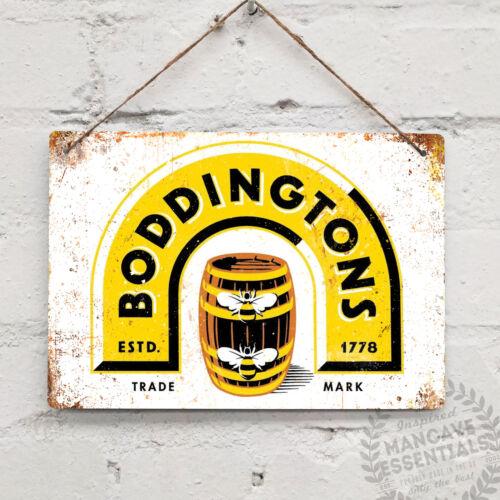 Boddingtons Replica Vintage Metal Wall sign Pub Bar Mancave Beer Dad