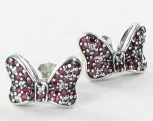 bbc2397a8 Authentic PANDORA Disney Minnie's Sparkling Bow Earrings #290578czr for sale  online | eBay