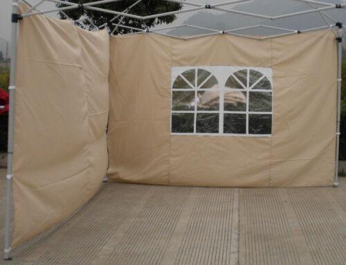 Seitenteile für Alu Faltpavillon 3m Pavillon 2er Set Beige Seitenteil
