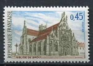 Stamp / Timbre France Neuf Luxe N° 1582 ** Eglise De Brou Finement Traité