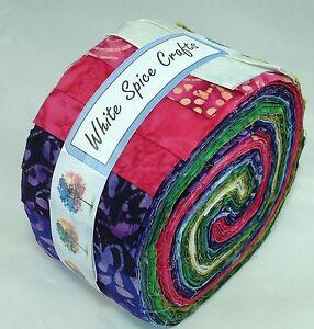 Gorgeous-colour-combination-Batik-Jelly-Roll-40-pcs-4-quilting-253-FREE-AU-POST