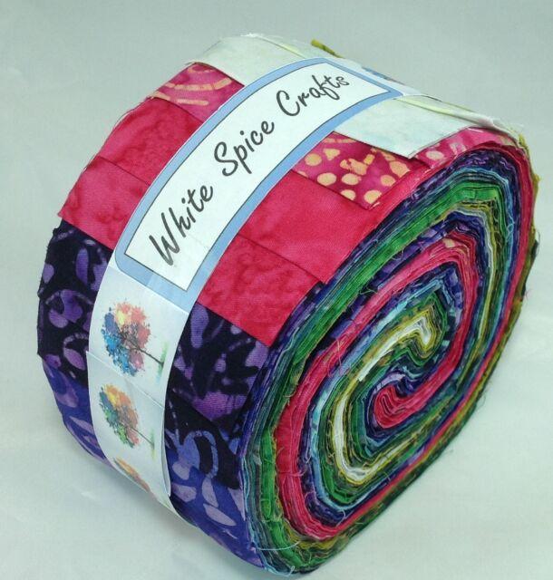 Gorgeous colour combination Batik Jelly Roll 40 pcs 4 quilting #253 FREE AU POST