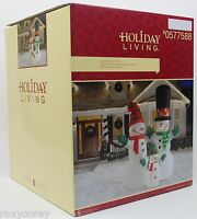 Christmas 12 Ft Lighted Snowman Snow Family Airblown Inflatable