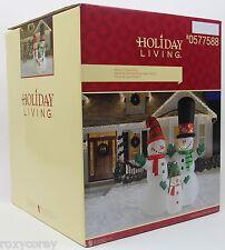 Christmas 12 ft Lighted Snowman Snow Family Airblown Inflatable NIB