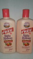 2 St Ives Alpha Hydroxy Renewal Lotion With Natural Peach Extract 25.2 Oz Each