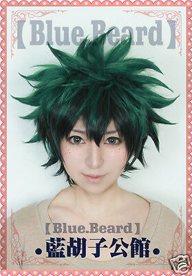 Anime My Boku no Hero Academia Midoriya Izuku Costume Cosplay Wig (Need Styled)