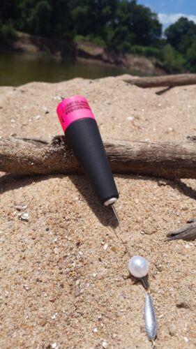 "5 for $35 Coastal Bouchons Custom Saltwater Popping Bouchons /""ROSE//NOIR/"""