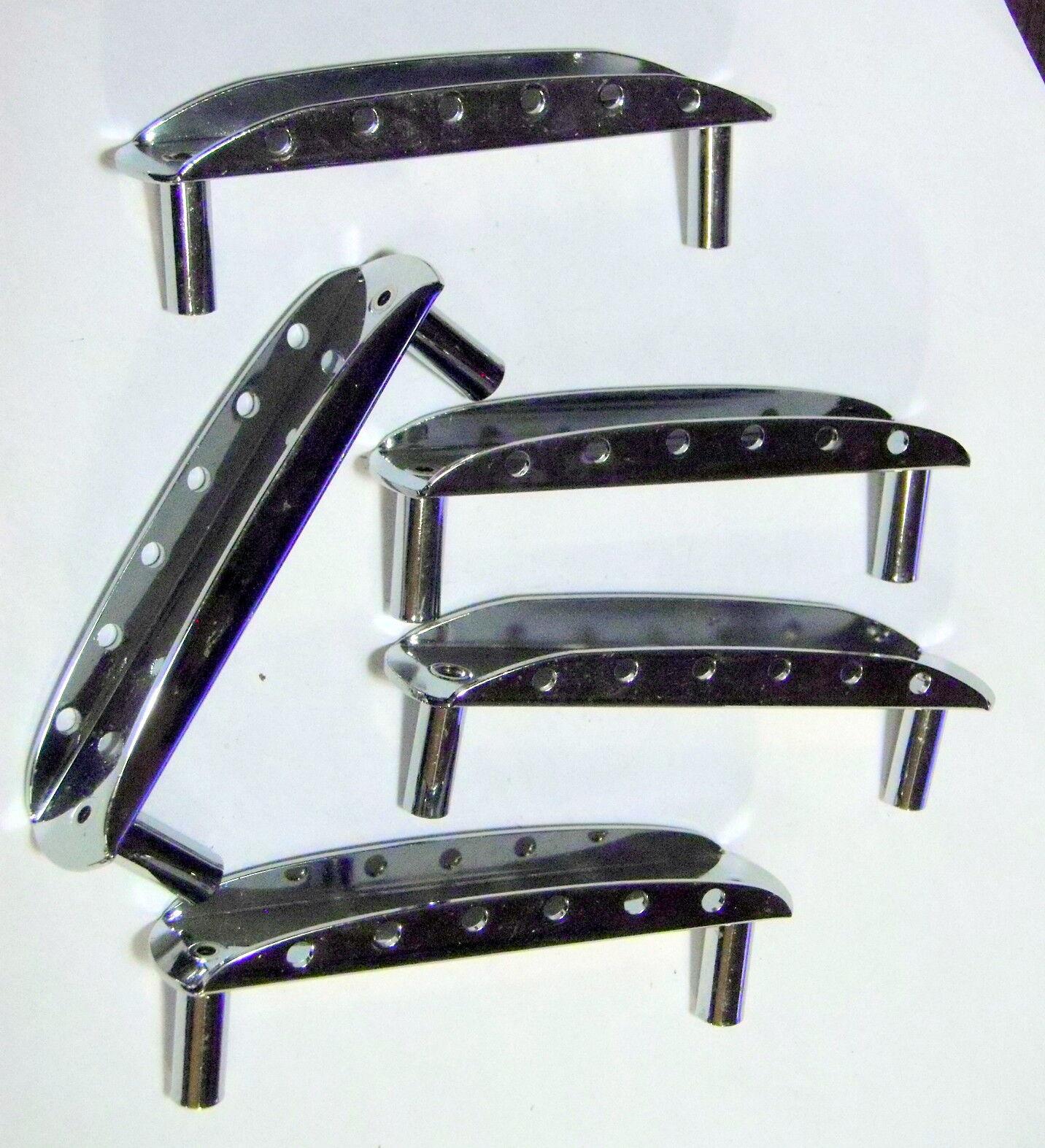 Lot of 5 Fender MIM Mustang Bridge Bases Jazzmaster Floating Chrome Standard MEX