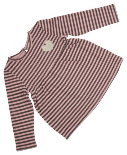 Ex-Store Girls Striped Top /& Leggings Set Grey /& Pink