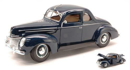 Ford Ford Ford Deluxe Coupe 1939 azul 1 18 Maisto MI31180 eaca62