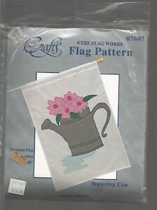 Watering-Can-The-Flag-Works-Flag-Pattern-Fabri-Crafts-USA