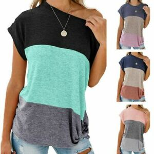 Fashion-Short-Sleeve-T-Shirt-Top-Tops-Solid-New-Casual-Loose-Jumper-Floral
