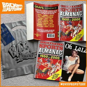 Back-to-the-Future-GRAYS-SPORTS-ALMANAC-Movie-Prop-receipt-silver-bag-Oh-Lala