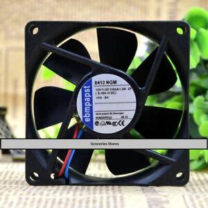 2-PCS-EBM-PAPST-8412-NGM-Cooling-Fan-DC-12V-1-3W-80mm-x-80mm-x-25mm-2-WIRE
