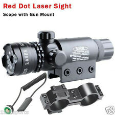 New RED DOT SIGHT/RED LASER +QD MOUNT 20mm Rail For Scopes W/ Switch #B25