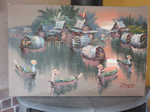 Tableau Peinture Thailande | eBay