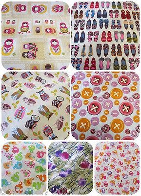 Fresa, Zapatos, Elefantes, Floral, Buhos, Muñeca Rusa-tejido de algodón - £ 4.99 Mt