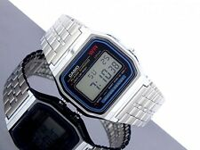 Casio Vintage Retro Digital Silver Unisex Day Date Alarm Light Watch A159wa A159