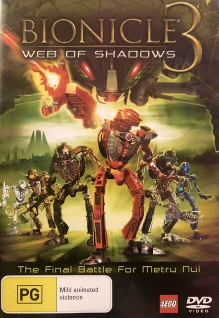 W2 Sealed-BIONICLE 3 - WEB OF SHADOWS - THE FINAL BATTLE FOR METRU NUI- R4 DVD