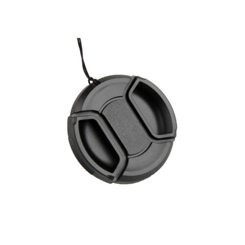 49-77mm Center Pinch Snap On Front Lens Cap Cover For Canon Nikon Sony+String